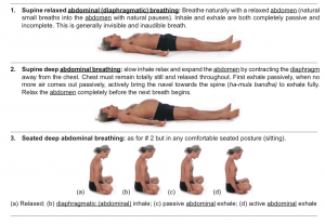 "Breathing exercises from Applied Anatomy and Physiology of Yoga"" By Simon Borg-Olivier and Bianca Machliss. Please click to enlarge"